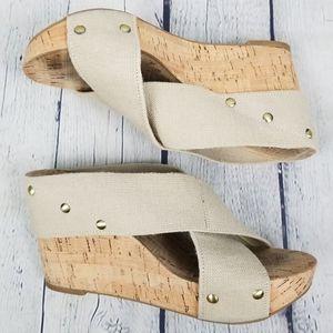 LUCKY BRAND | Miller slip-on platform wedge sandal